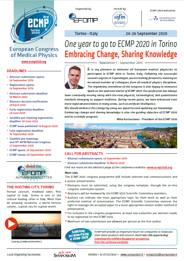 ECMP Newsletter 1  September 2019